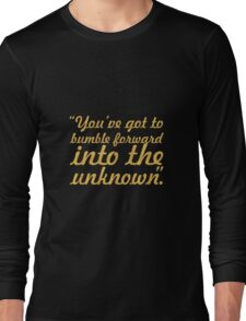 """You've got to bumble... """"Frank Gehry"""" Inspirational Quote Long Sleeve T-Shirt"""