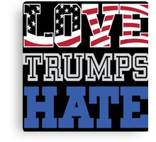 love hate trump Canvas Print