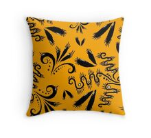 Squiggle Abstract  Throw Pillow