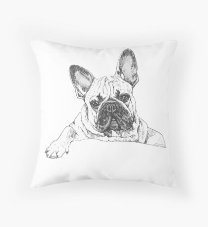 Chop drawing by doodlesbydaisy Throw Pillow