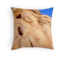 Motherhood Sculpture, Broken Hill Throw Pillow