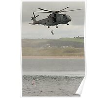 Royal Navy Merlin Helicopter Poster