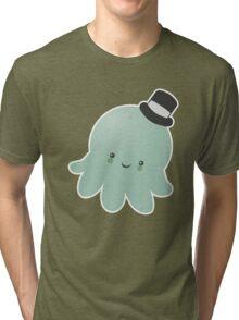 Cute Octopus wearing a Top Hat Tri-blend T-Shirt