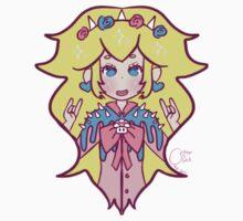 Pastel Goth Princess Peach Kids Tee
