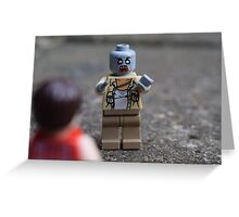 LEGO Zombie Greeting Card