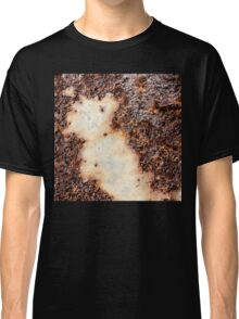 Cool brown rusty metal texture Classic T-Shirt