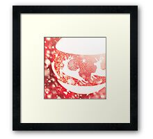 Christmas composition in white and red colors Framed Print