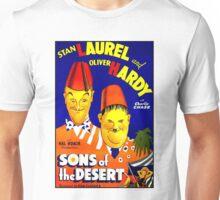 LAUREL & HARDY; Vintage Sons of the Desert Print Unisex T-Shirt