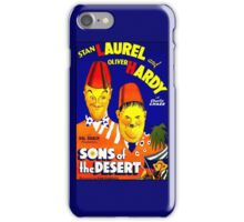 LAUREL & HARDY; Vintage Sons of the Desert Print iPhone Case/Skin