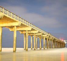 Scripps Pier at Midnight by HaveANiceDaisy
