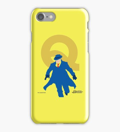 The Question - Superhero Minimalist Alphabet Clothing iPhone Case/Skin