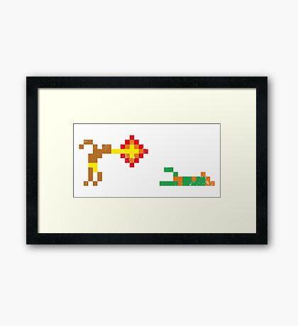 Street Fighter - Dhalsim vs Blanka Framed Print