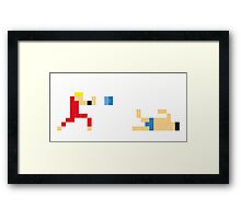 Street Fighter - Ken vs Honda Framed Print