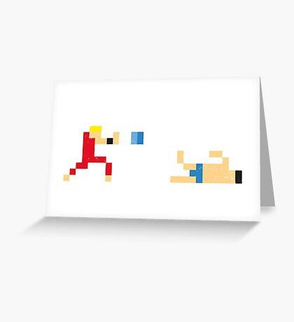 Street Fighter - Ken vs Honda Greeting Card