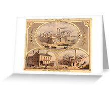William Jessop and Sons, Park Works, Soho Rolling Mills, Shude Lane and Pond Street, Sheffield, 1879 Greeting Card