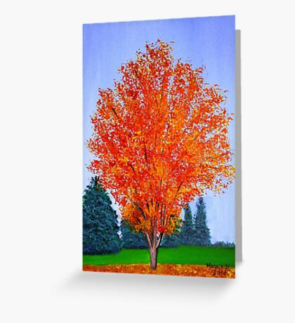 Fall Tree in ND Greeting Card