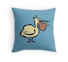 can you trust a pelican? Throw Pillow
