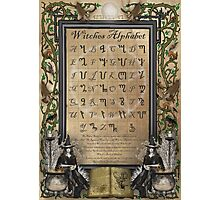 Witches Alphabet Photographic Print