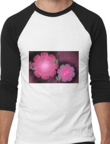 Pretty Pink Men's Baseball ¾ T-Shirt