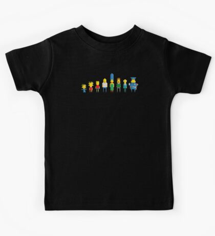 The simpsons - Pixel serie Kids Tee