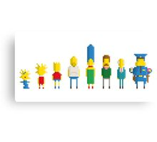 The simpsons - Pixel serie Canvas Print