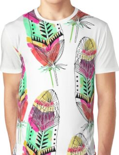 Hippie Feathers Graphic T-Shirt
