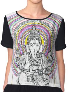 Elephant Shiva Chiffon Top