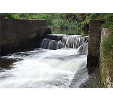 Weir @ Batford Springs, Harpenden 2014 Photographic Print