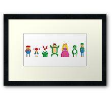 Mario - Pixel serie Framed Print