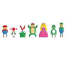 Mario - Pixel serie Photographic Print
