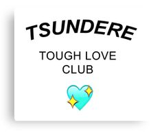 TSUNDERE CLUB Canvas Print