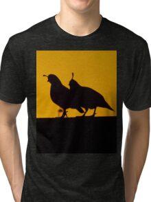 Quail at sunset Tri-blend T-Shirt