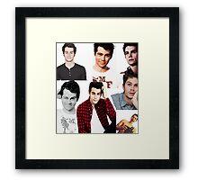 Dylan O'Brien Collage Framed Print