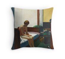 Edward Hopper hotel room Throw Pillow