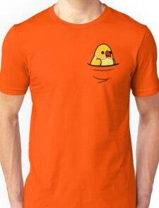 Too Many Birds! - Yellow/Lutino Indian Ringneck Unisex T-Shirt