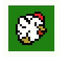 Chicken (8-bit / 16-bit / Pixelated) Art Print
