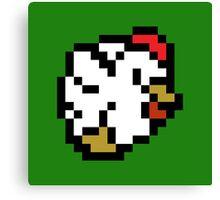 Chicken (8-bit / 16-bit / Pixelated) Canvas Print