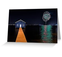 Crawley Edge Boatshed Fireworks  Greeting Card