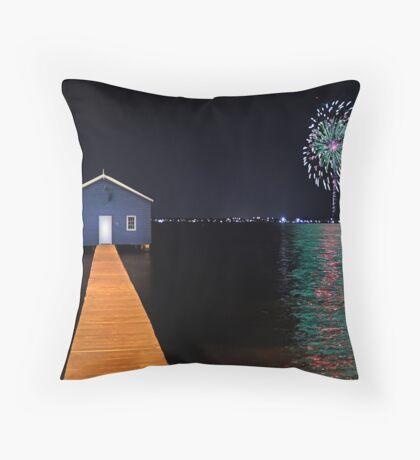 Crawley Edge Boatshed Fireworks  Throw Pillow