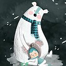 Polar Bear Hug by Holly Hatam