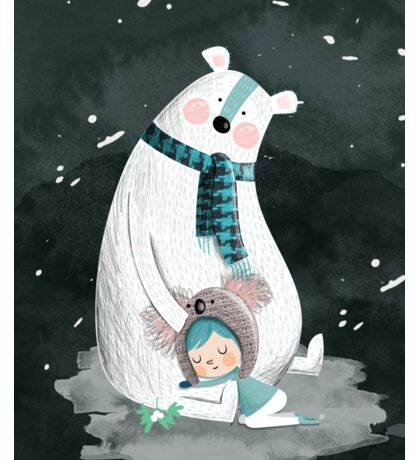 Polar Bear Hug Sticker