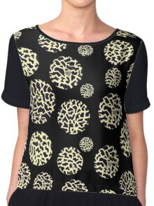 Circle Giraffe Gold Pattern  Chiffon Top