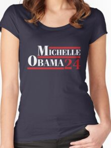 Michelle Obama 2024 - Michelle Obama For President Women's Fitted Scoop T-Shirt