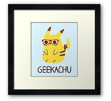 Super Geeky Framed Print