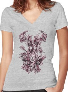 Jackalope Women's Fitted V-Neck T-Shirt