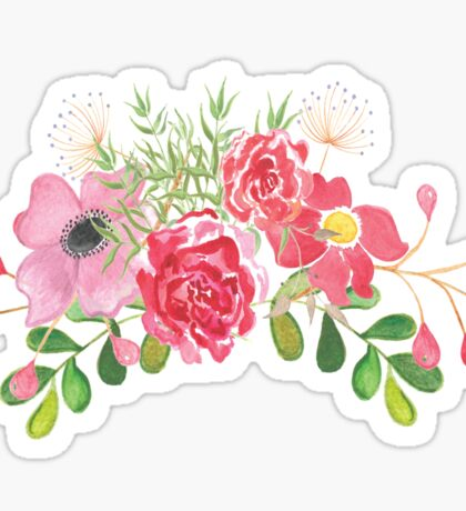 Pink Floral Sticker