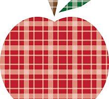 Plaid Apple. by Chris Lenzi