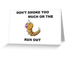 Pokémon Weedle Pun Greeting Card