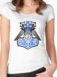 Ravens Hammer of Thor Women's Fitted Scoop T-Shirt