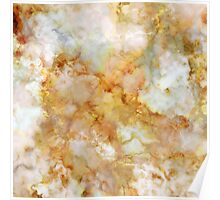 Gold Rippled Marble Poster